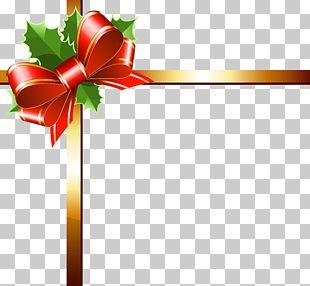 Ribbon Gold Christmas PNG