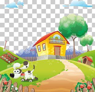 Home Animal Cartoon Illustration PNG