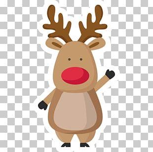 Rudolph Reindeer Christmas Santa Claus Coloring Book PNG