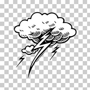 Lightning Cloud Tattoo Thunderstorm PNG