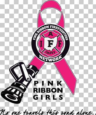 Pink Ribbon Firefighter Fire Department Breast Cancer PNG