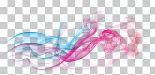 Red Dream Smoke Curve Effect Element PNG