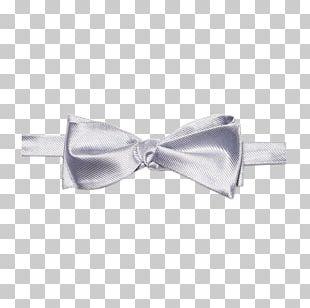Bow Tie Necktie Scarf Ribbon Silver PNG