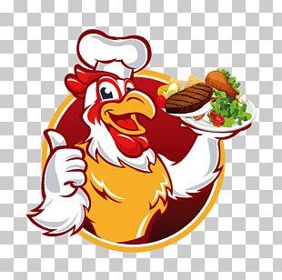 Chicken Meat Chef Cartoon PNG