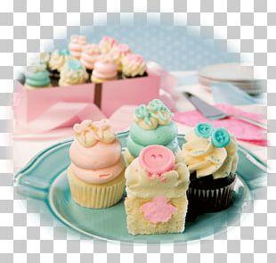 Cupcake Gender Reveal Muffin Buttercream PNG