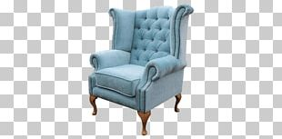 Club Chair Wing Chair Couch Footstool PNG