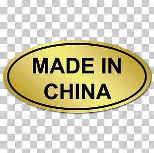 Made In China Sticker Label Country Of Origin PNG