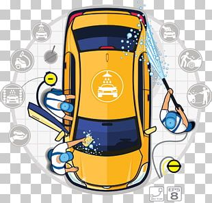 Car Wash Auto Detailing Illustration PNG