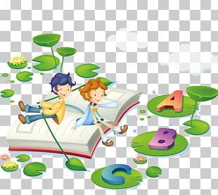Learning Child Cartoon Illustration PNG