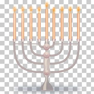 Hanukkah Menorah Icon PNG