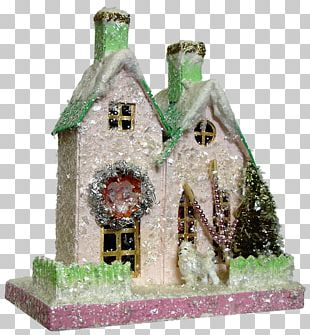 House Christmas Village Christmas Day Paper Christmas Decoration PNG