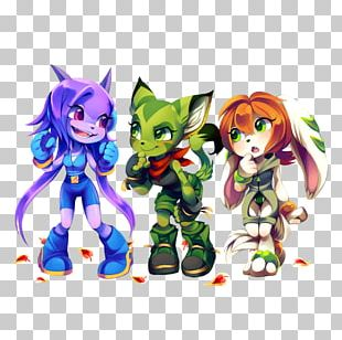 Freedom Planet 2 Character Concept Art Model Sheet PNG