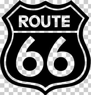 U.S. Route 66 Car Sticker Wall Decal PNG