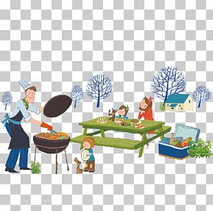 Barbecue Grill Picnic Illustration PNG