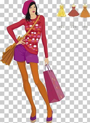 Fashion Model Woman Illustration PNG