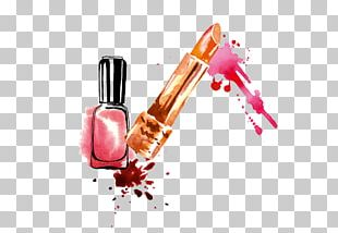 Lipstick Nail Polish Drawing PNG