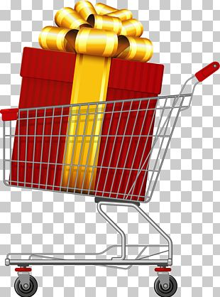 Hand-painted Gift Shopping Car PNG