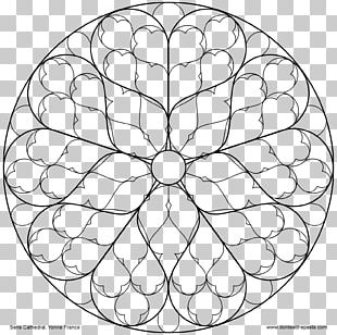 Rose Window Stained Glass Notre-Dame De Paris Coloring Book PNG