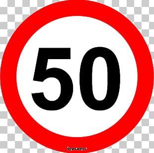 Kilometer Per Hour Roadworks Speed Limit Traffic Sign PNG