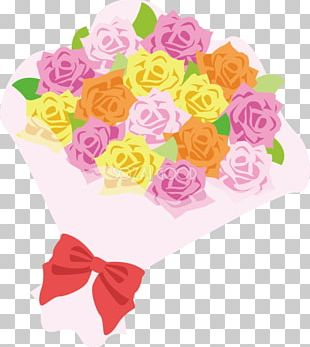 Garden Roses Nosegay Cut Flowers Pink PNG