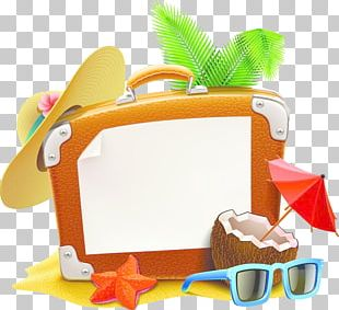 Summer Vacation Travel Suitcase PNG