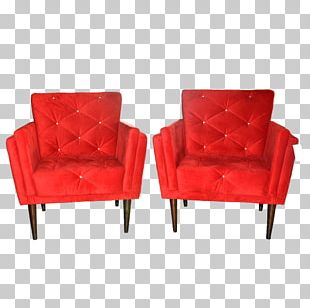 Bergère Couch Club Chair Red Living Room PNG