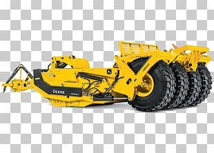 John Deere Bulldozer Wheel Tractor-scraper Heavy Machinery PNG