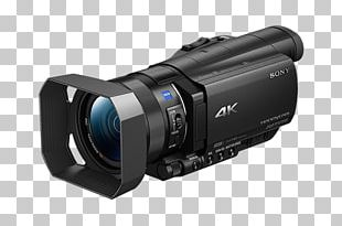 Sony Handycam FDR-AX100 Video Cameras 4K Resolution Ultra-high-definition Television PNG