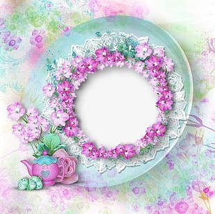 Dream Beautiful Wedding Flowers Frame PNG
