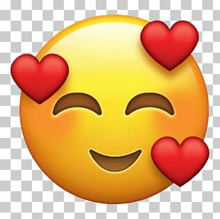 Emoji Love Heart Sticker Emoticon PNG