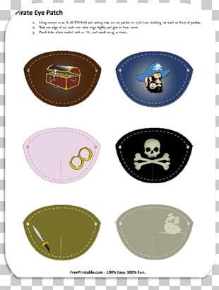Piracy Eyepatch Jolly Roger Pirate Party PNG