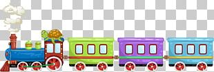 Toy Train Cartoon Illustration PNG