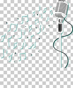 Microphone Musical Note PNG