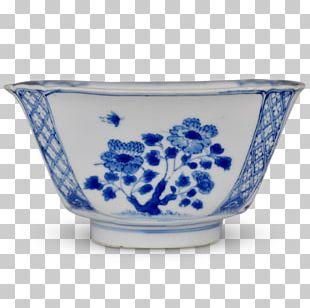Blue And White Pottery Ceramic Cobalt Blue Bowl Saucer PNG