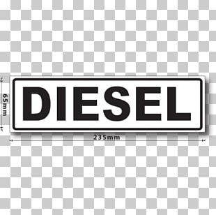 Car Decal Sticker Diesel Fuel Label PNG