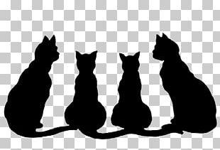 Halloween Black Cat PNG