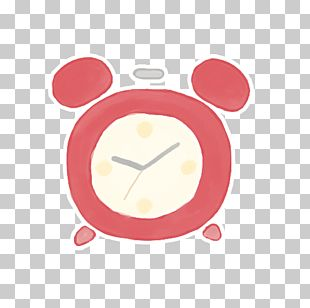 Pink Home Accessories Alarm Clock PNG