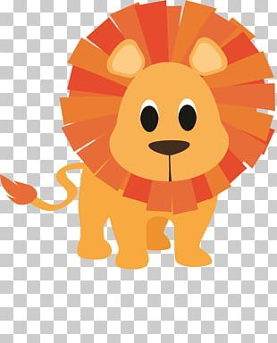 Baby Jungle Animals Lion Cartoon Drawing PNG