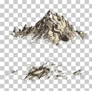Drawing Mountain Sketch PNG