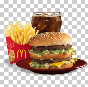 Cheeseburger Hamburger French Fries McDonald's Quarter Pounder Fast Food PNG
