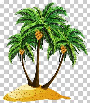 Cartoon Island Illustration PNG
