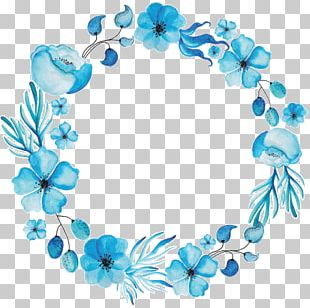 Wreath Floral Design Watercolor Painting Flower PNG