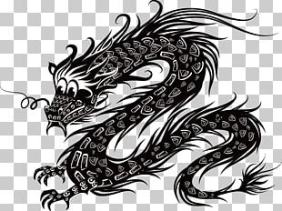 Chinese Dragon Illustration PNG