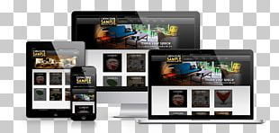 Smartphone Responsive Web Design Home Page PNG