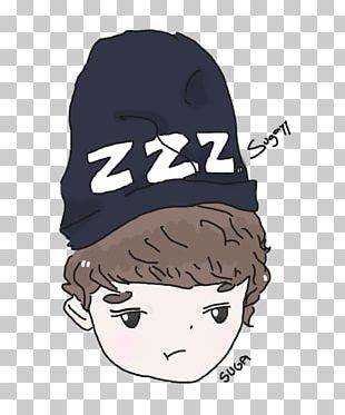 BTS Chibi Drawing Fan Art PNG