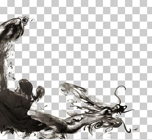 Greater China Chinese Dragon Ink PNG