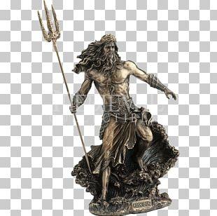 Poseidon King Neptune Statue Sculpture Greek Mythology PNG