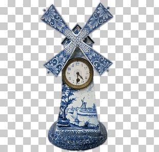 Delft Windmill Clock PNG