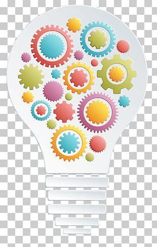 Incandescent Light Bulb Euclidean Gear Lamp PNG
