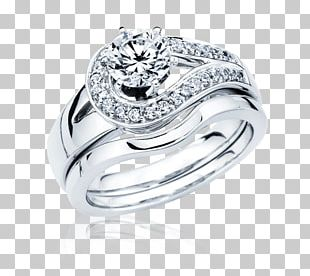 Silver Ring Diamond Jewelry PNG